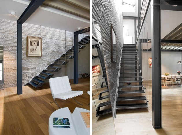 exposed-brick-steel-create-backdrop-contemporary-residence-7-stairwell.jpg
