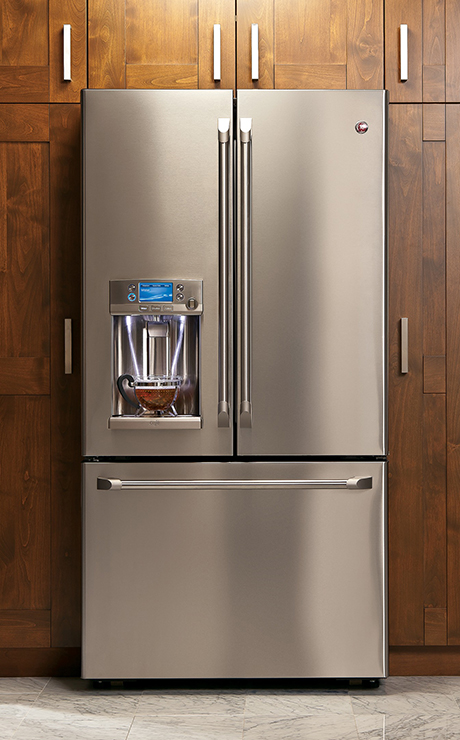 Ge Caf 233 French Door Refrigerator With Hot Water Dispenser Kitchen Design Guide