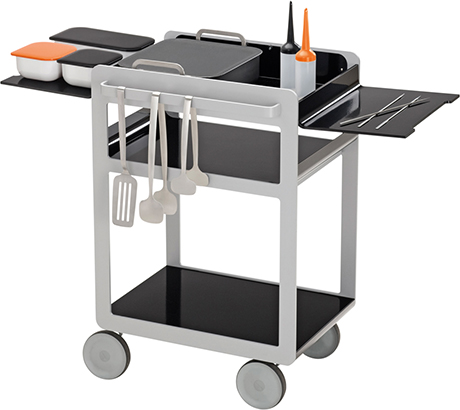 Kitchen trolley cart kitchen design guide for Kitchen trolley designs