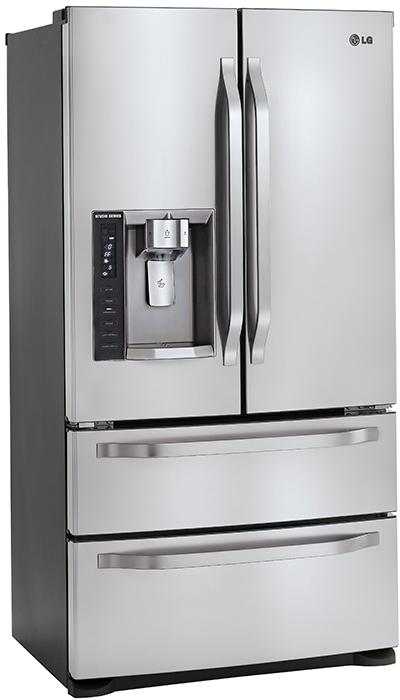 LG Studio Series refrigerator with double drawer freezer ...